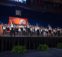 Image of students performing at last year's celebration